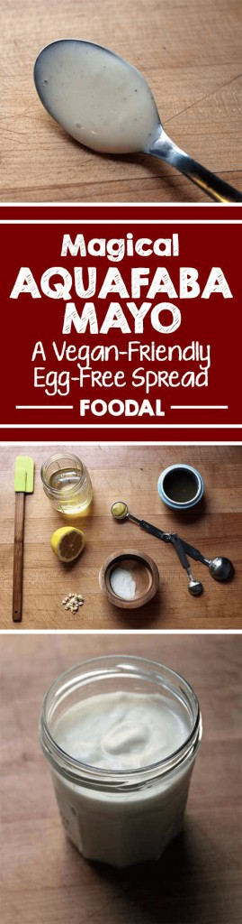 Have you been longing for an egg-free mayonnaise alternative, but nothing on the market will suffice? Thanks to the magical emulsification powers of aquafaba (or chickpea water), you can make your own at home. You can easily trick your kids or guests, because this spread just might even be tastier than the real deal!
