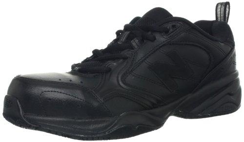 New Balance Men's MID627 Steel-Toe Work Shoe in Black | Foodal.com