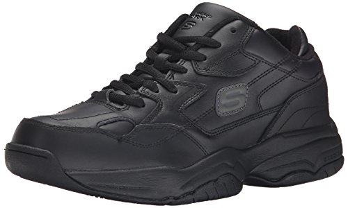 Skechers for Work Men's 76690 Keystone Sneaker in Black | Foodal.com
