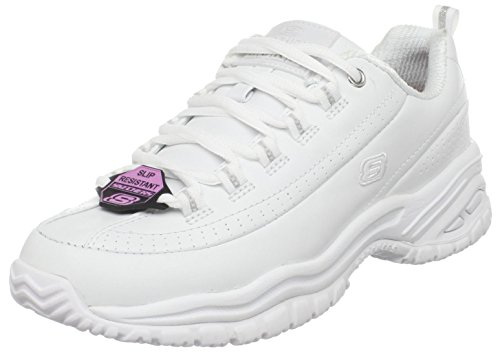 Skechers for Work Women's 76033 Soft Stride-Softie Lace-Up in white | Foodal.com