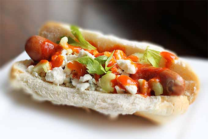 Buffalo Chicken Hot Dog
