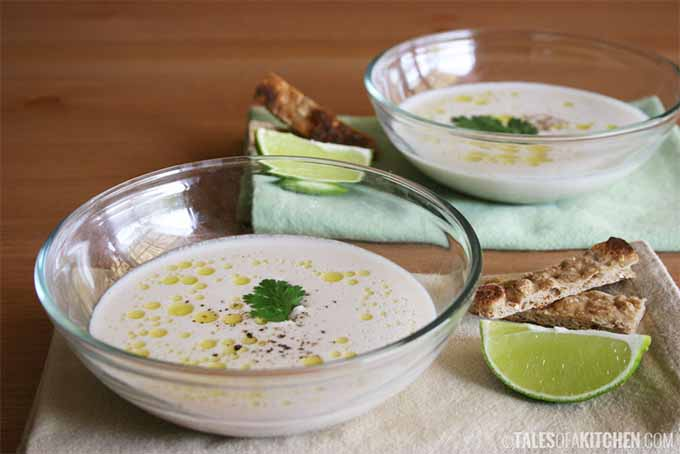 Chilled Garlic Almond Soup