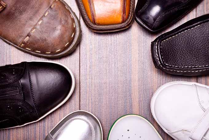 Circle of Different Shoes | Foodal.com