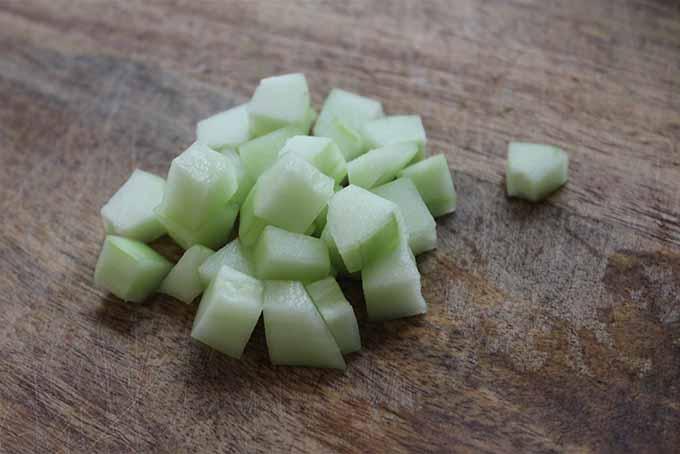 Chopped Cucumber Garnish | Foodal.com