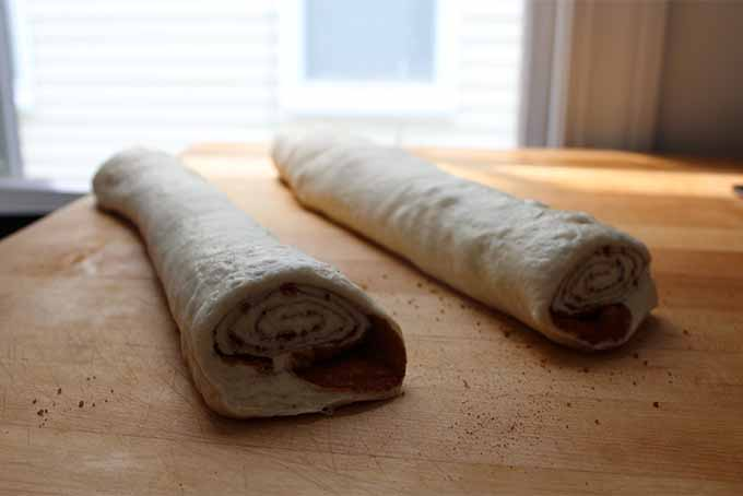 Rolled Logs of Bread Dough