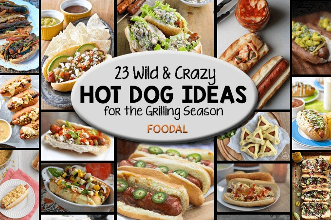 23 of the best hot dog recipes for grilling season.