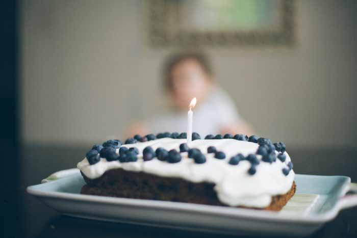A Blueberry Birthday Cake
