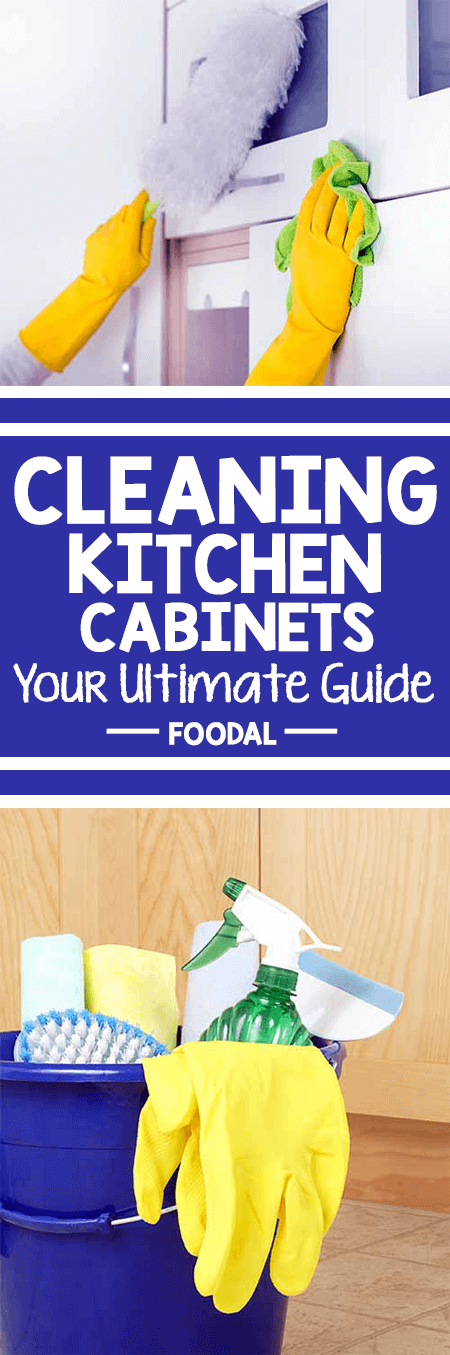 Scrubbing and sanitizing the kitchen cabinets and cupboards is an onerous task. Not only is it time consuming, using the wrong cleaners on expensive cabinets can ruin the finish. And once that happens, there's just no hiding it. So check out our tips for effectively cleaning the most common materials for today's kitchen cabinets, and how to disinfect them as well. When you know the right methods, cleaning and sanitizing can be accomplished quickly and easily! https://foodal.com/knowledge/cleaning/kitchen-cabinets/
