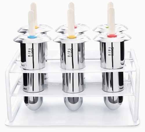 Onyx 18-8 Stainless Steel Popsicle Mold, Set of 6 | Foodal.com