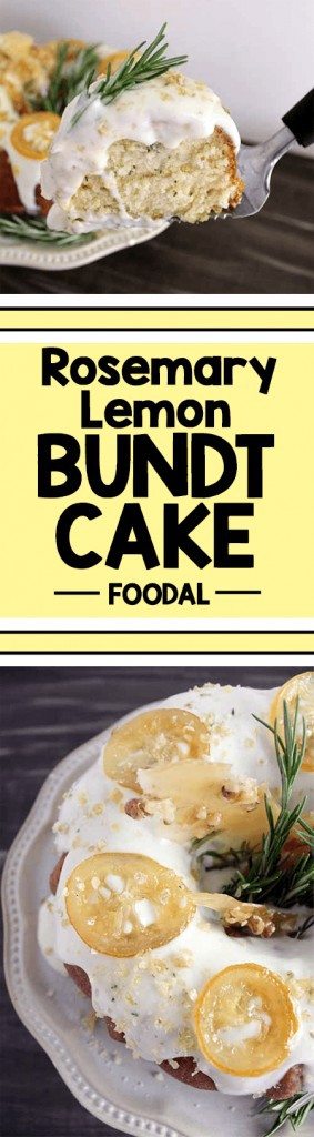 Bored with your average lemon cake? This recipe takes a classic lemon bundt cake and infuses it with fresh rosemary, then it's topped with a sweet and tangy goat cheese frosting. This dessert is perfect for those who are not big fans of overly sweet desserts, but is sure to please all taste buds with the tantalizing combination of tart lemon with a powerful punch from the rosemary and unique flavor from the goat cheese. Make this for your next birthday, bridal shower, or any party, and it is sure to be a crowd-pleaser! https://foodal.com/recipes/desserts/rosemary-lemon-bundt-cake/