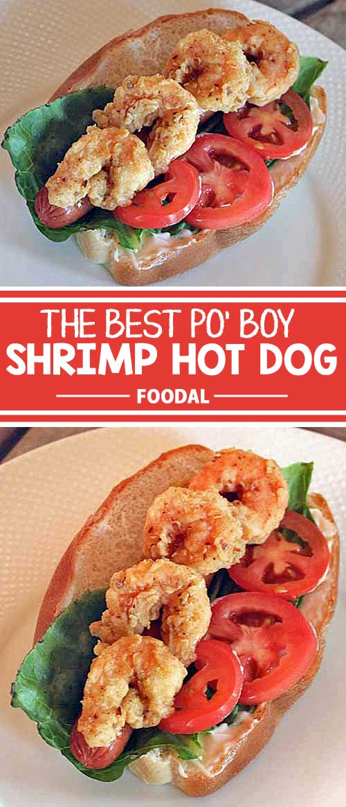 What's more perfect for your next cookout than our Surf and Turf dog? This cross between a po' boy and a hot dog is a beauty that's sure to please lovers of both land and sea. Crispy breaded and fried shrimp atop a grilled dog, finished with lettuce and tomato – it's a match made in barbecue heaven. Get the recipe now!