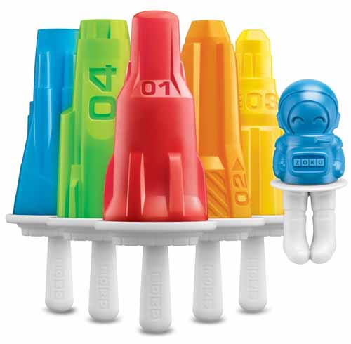 Zoku Space Pop Molds with Rockets and Astronaut | Foodal.com