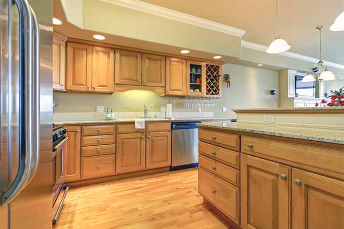 how to clean kitchen cabinets with grease build up wood before painting off