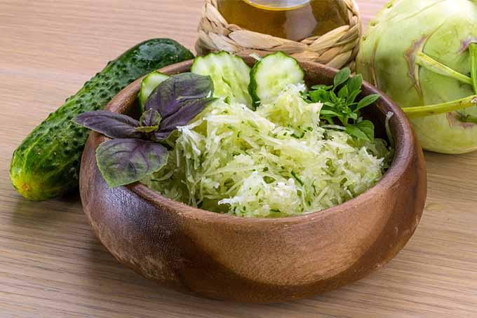 Kohlrabi Cucumber Salad | Foodal.com