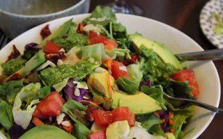 Savory Raw Pesto Salad