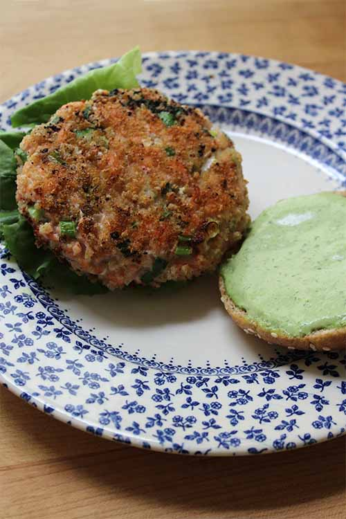 Looking for a dish that's delicious and healthy to make for dinner tonight? There are two different serving suggestions to choose between for these tasty salmon burger patties with green goddess dressing. Read more and get the recipe on Foodal: http://foodal.com/recipes/fish-and-seafood/green-goddess-salmon-burgers/