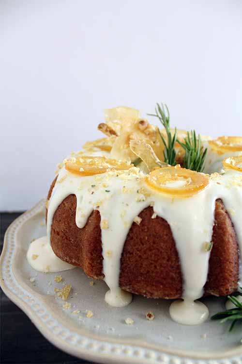 Bored with your average lemon cake? Add rosemary, fresh lemon, and goat cheese with this recipe: https://foodal.com/recipes/desserts/rosemary-lemon-bundt-cake/