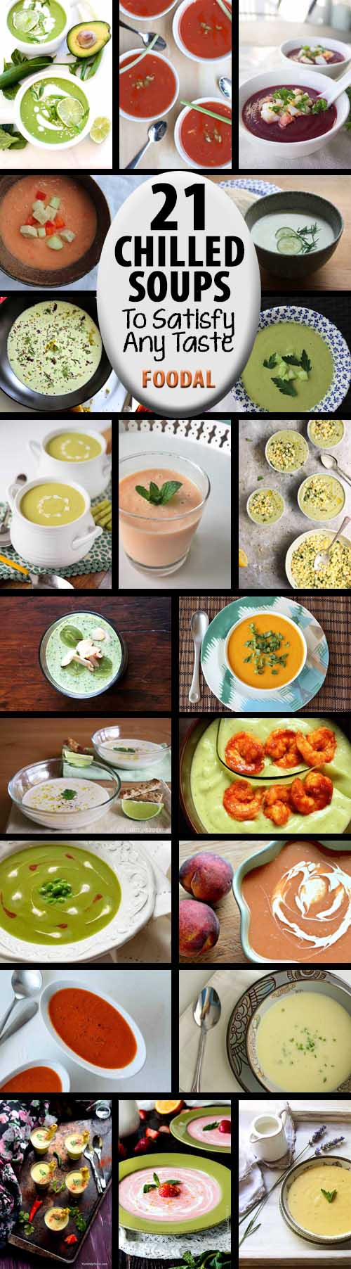 Whether sweet or savory, made with fruit, vegetables, fresh herbs, nuts, or legumes, there's a chilled soup recipe out there to satisfy every taste. We've collected 21 of our favorites from around the web, and brought them together in Foodal's roundup of the top taste sensations in a variety of categories. Whether your goal is to beat the heat or to serve up something a little different at your next dinner party, we've got you covered. Read more and get the recipes now: https://foodal.com/knowledge/paleo/chilled-soups-roundup