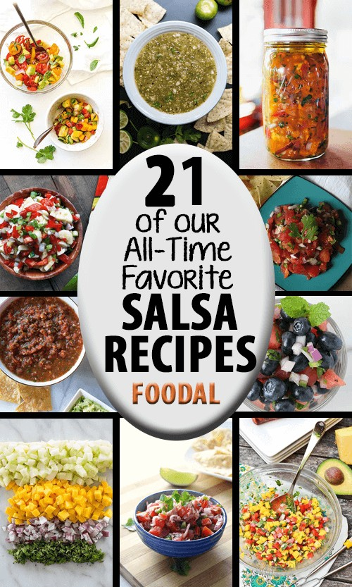 It's time to break out the tortilla chips! Fruity, savory, sweet, and herbal - we share 21 of our favorite salsa recipes from around the web on Foodal. https://foodal.com/recipes/sauces/favorite-salsa-recipes/