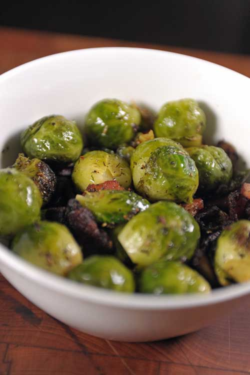 Organic Brussels Sprouts Saut 233 Ed With Bacon Fennel Seed
