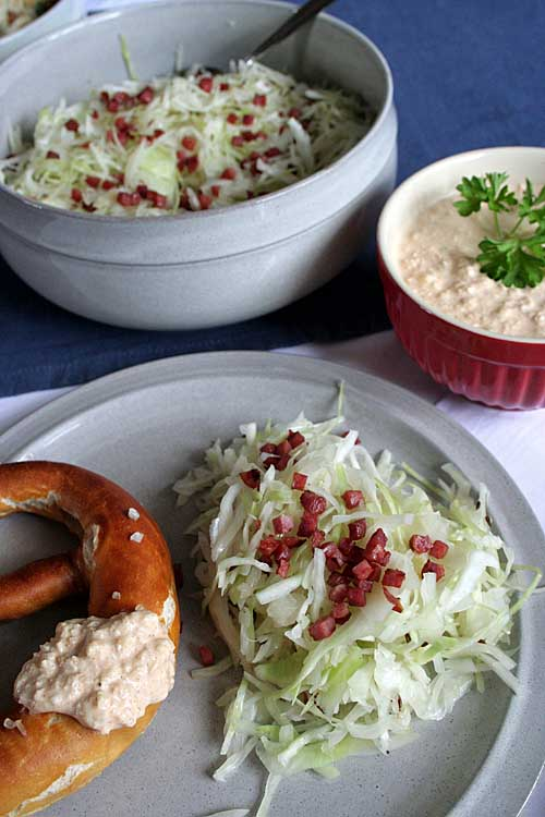 Try this tangy, bacony German cabbage salad for Oktoberfest or anytime you want something a little different to serve up with some bratwurst! Find it here: https://foodal.com/recipes/german-recipes/cabbage-salad-bacon/
