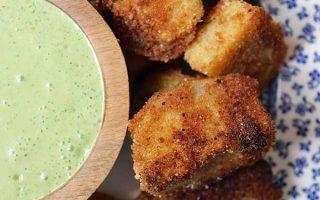 Fried Kohlrabi with Cilantro Yogurt Dipping Sauce | Foodal.com
