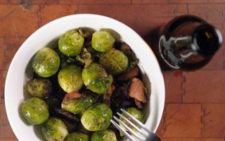 Organic Brussels Sprouts Sautéed with Bacon, Fennel Seed & Dill