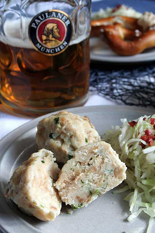 Dumplings made of old bread are a German tradition. Try them now in your own home with this delicious recipe! Find it here: https://foodal.com/recipes/german-recipes/bread-dumplings/