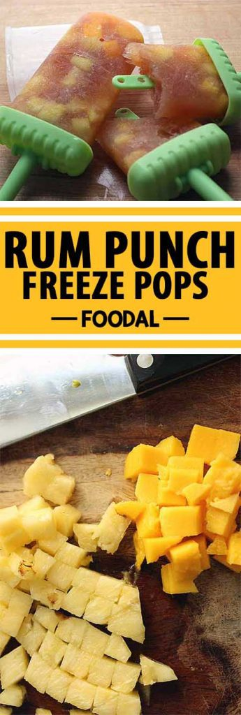 Take your taste buds on a trip to the tropics with these punch pop-tails. We're obsessed with boozy popsicles, and you really can't go wrong when you make them with dark Jamaican rum, fruit juice, honey, and lime. You're just a few hours away from enjoying this tropical treat for yourself. Read more now! https://foodal.com/recipes/desserts/rum-punch-popsicles/