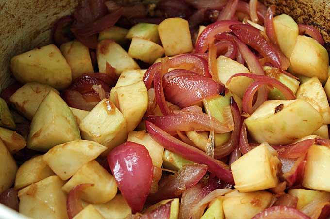 Step 3 of Vegan Cream of Kohlrabi Soup - Sautéing | Foodal.com