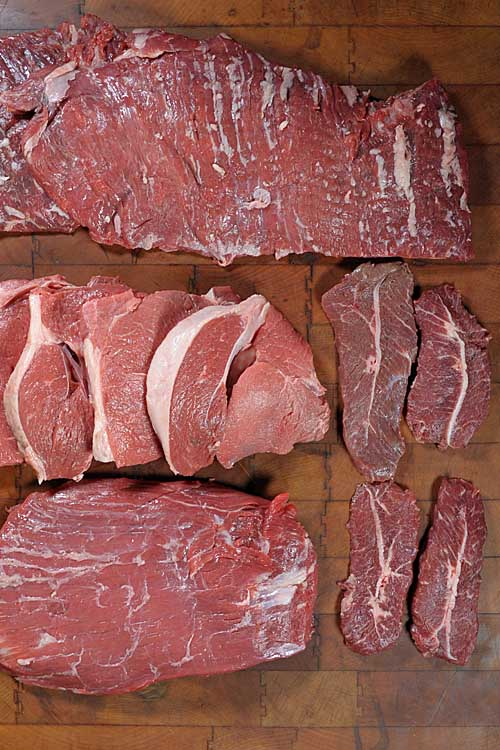 Get the low down on these four alternative beef cuts. With today's high prices, these varieties have all the flavor (and some would argue more) but are significantly cheaper. Stop singing the blues and change your tune to moos instead! https://foodal.com/knowledge/protein/4-lesser-known-cuts/
