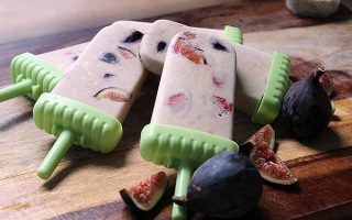 Sweet and Savory Tahini, Honey-Roasted Fig, and Banana Popsicles