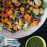 The best grilled salad recipe with parsley dressing.