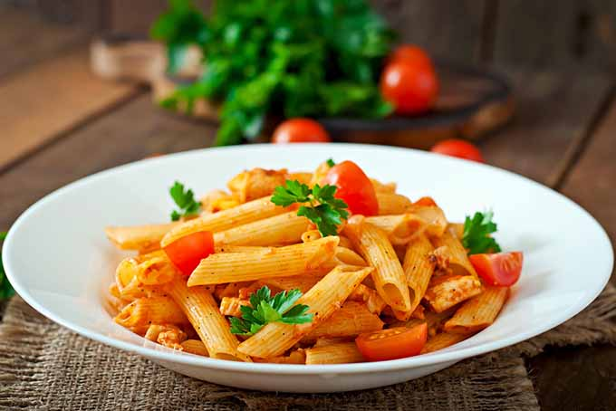 Penne Pasta and Tomatoes | Foodal.com