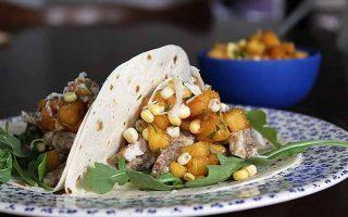 Pork Tacos with Peach-Corn Salsa | Foodal.com