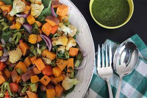Grilled Vegetable Salad with Parsley Dressing