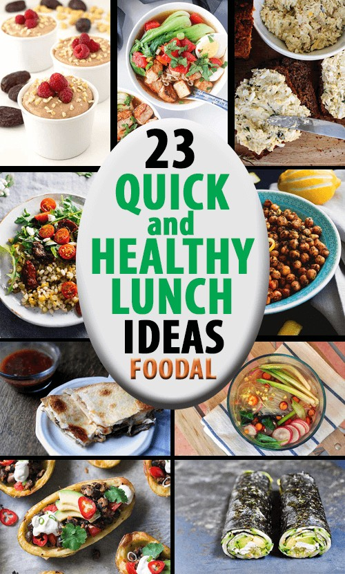 Forget fast food, leftover takeout, and all of the added salt, sugar, fat, artificial dyes and preservatives you'll get from eating processed snacks and lunches. Try this quick and healthy homemade lunch ideas instead: https://foodal.com/knowledge/paleo/quick-healthy-lunches/