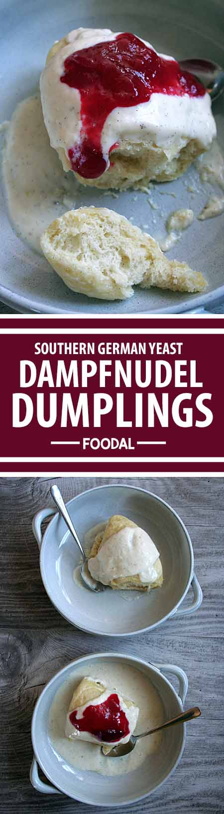 Want to try a different dumpling that's moist and chewy on the top, and nice and crunchy on the bottom? The ever-popular German Dampfnudel is not to be missed! Read more and get the recipe now on Foodal. http://foodal.com/recipes/comfort-food/southern-german-yeast-dumplings-a-soft-and-crispy-treat/