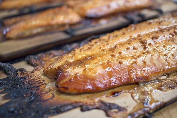 Planked grilled salmon | Foodal.com