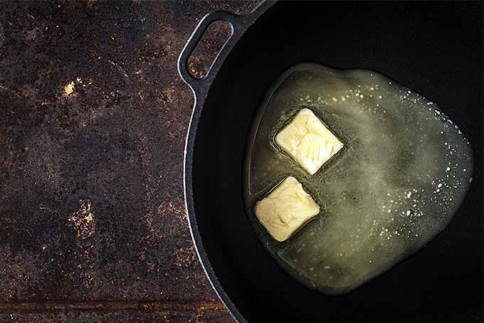 Butter Melting in Cast Iron Pan | Foodal.com