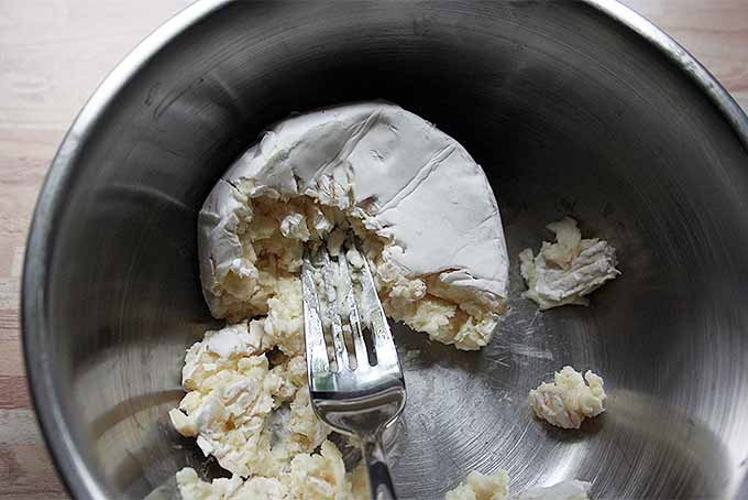 Mashing Camembert for Dip   Foodal.com