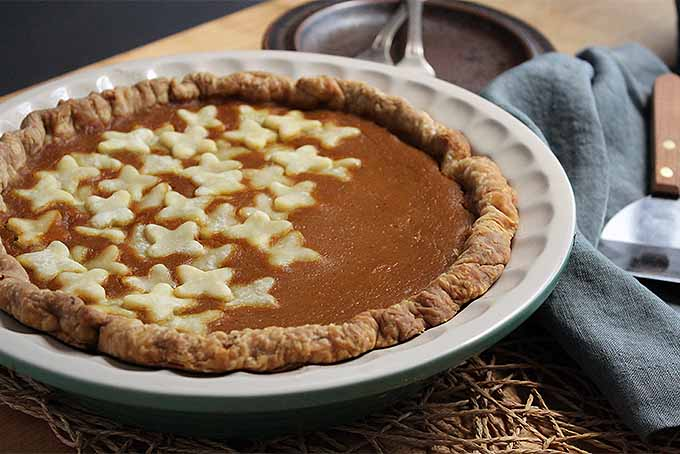 Pumpkin Pie with Decorative Crust Cutouts | Foodal.com