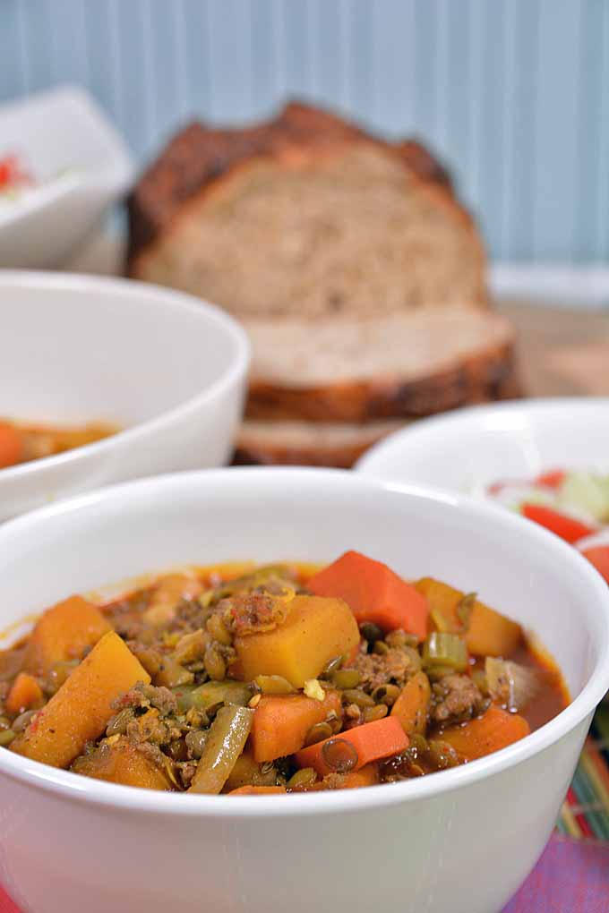 Try out the spicy goodness of this authentic Moroccan stew made with lamb, lentils, lots of veggies, and every spice found in the markets of Marrakech! Find the recipe here: https://foodal.com/recipes/soups/moroccan-stew/
