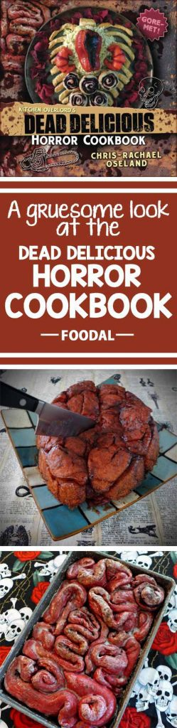 Looking to take your Halloween cooking game to the next level with gruesome treats that are sure to creep out your guests? You'll love this book! Check out our review and get Chris-Rachel Oseland's recipe for Beet Monkey Bread Brains now on Foodal. https://foodal.com/kitchen/general-kitchenware/recipe-books/dead-delicious-horror-cookbook/