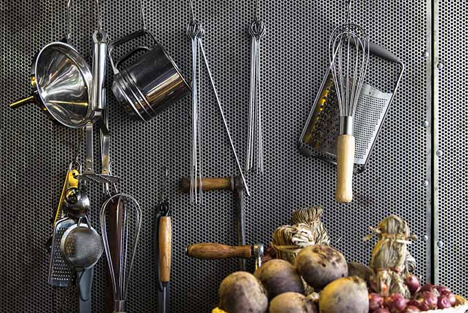 Organizing Kitchen Tools and Utensils with Pegboard | Foodal.com