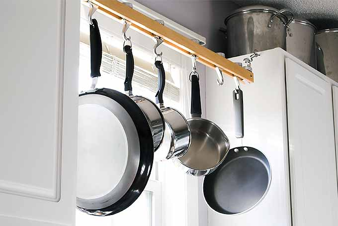 Hanging Pan Rack | Foodal.com