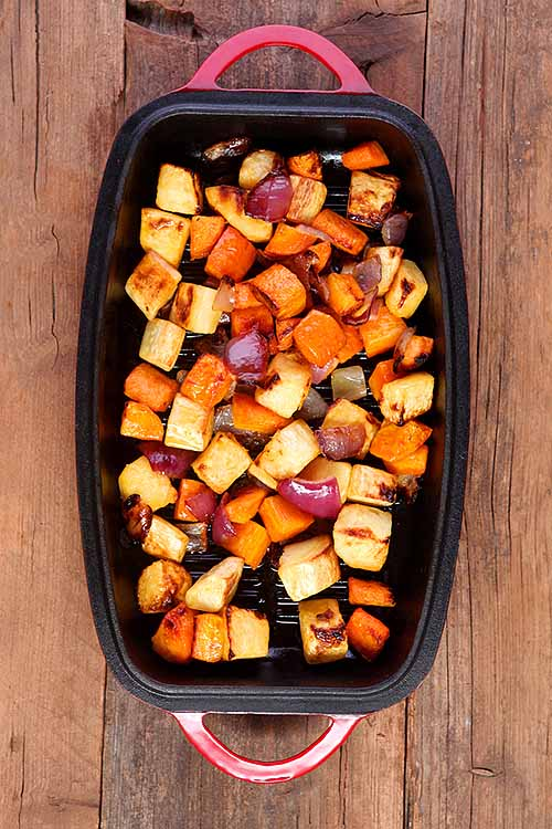 Why should you roast your root veggies? For starters: it's healthy, delicious (especially when they're seasoned and carmelized), and they make eating these unique produce pieces much more interesting and irresistible! Learn how (and why) here: http://foodal.com/knowledge/paleo/roasted-root-veggies/