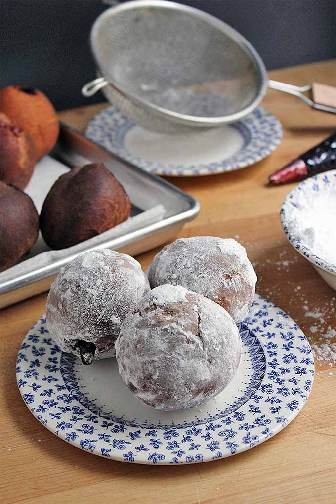 Make your own sugar-coated jelly-filled donuts with buttery brioche dough. Get the recipe: https://foodal.com/recipes/breakfast/berliner-jelly-doughnuts/