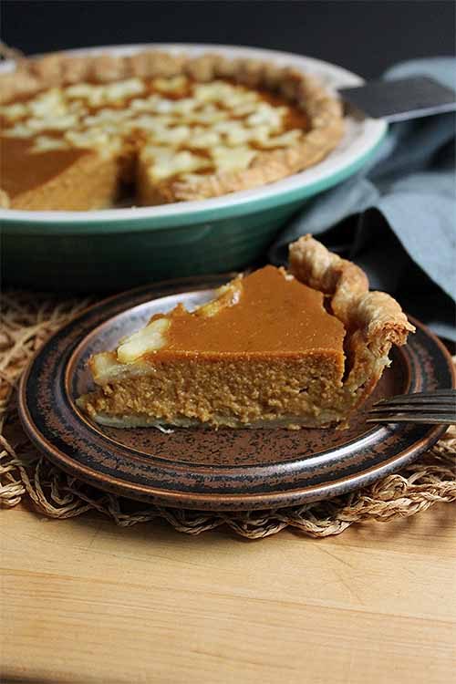 Sage-infused cream is mixed with brown butter to create a unique flavor base for the ultimate pumpkin pie. We share the recipe: https://foodal.com/recipes/desserts/pumpkin-sage-pie/