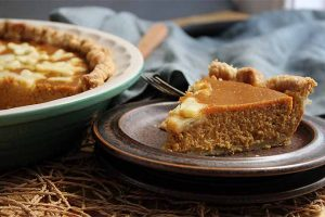 Pumpkin Pie with Sage and Brown Butter
